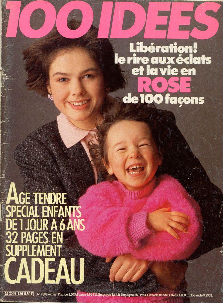 100 idées N° 136 - février 1985 - couverture - photo Jérôme Tisné - un numéro superbe, très riche en propositions et sources d'inspiration !