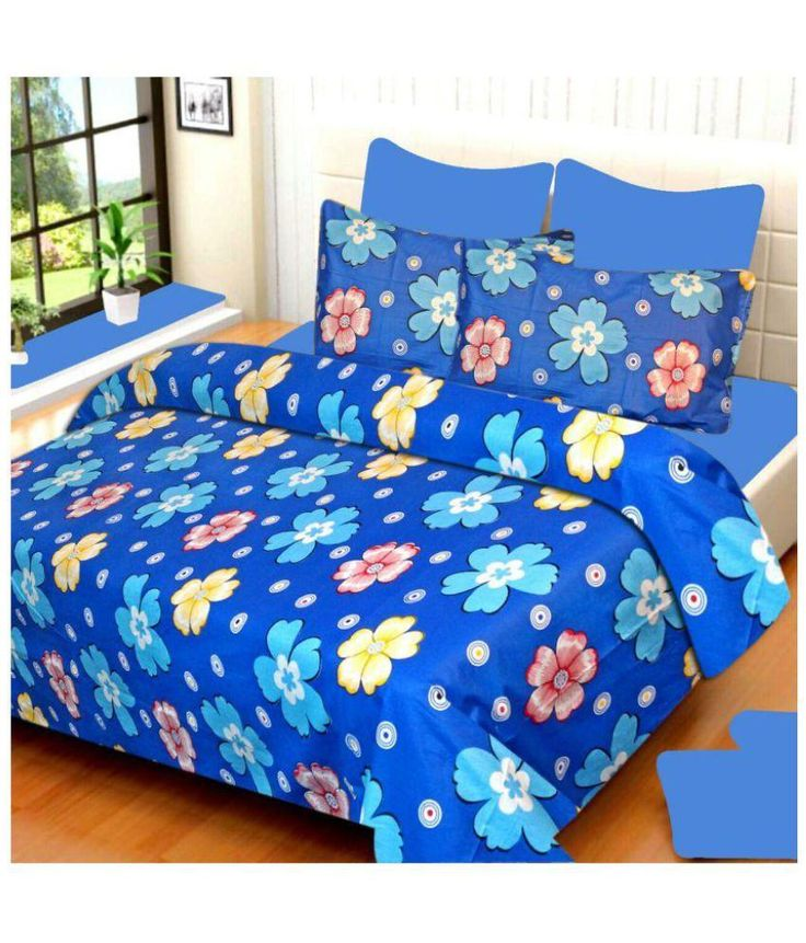 Redbear Double Cotton Floral Bed Sheet - Buy Redbear Double Cotton Floral Bed Sheet Online at Low Price - Snapdeal