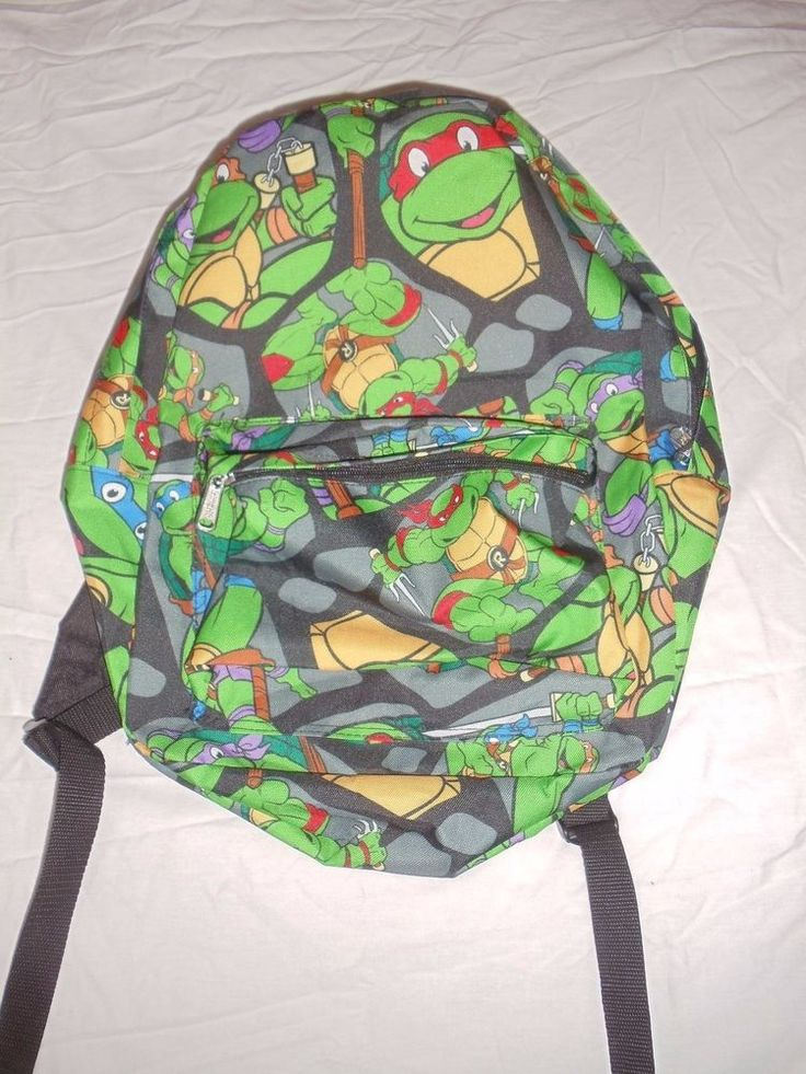 Large Zippered Main Compartment. Offical Nickelodeon Product. Zippered Front Pocket with Organizer Compartments. | eBay!