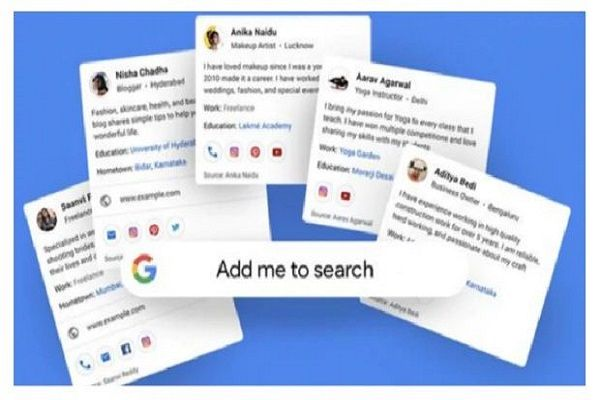 Google On Tuesday Launched A New Feature That Lets Users In India Create People Cards Which Are Like Virt Visiting Cards Google Search Results Help Teaching