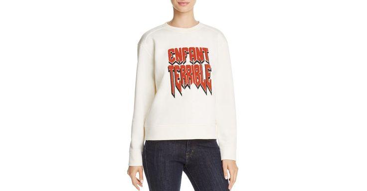 Maje Enfant Terrible Neoprene Sweatshirt by Maje | Spring - Free Shipping. On Everything.