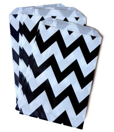 Paper Lolly Bags Black Chevron - Party Shop :: Big Dreams