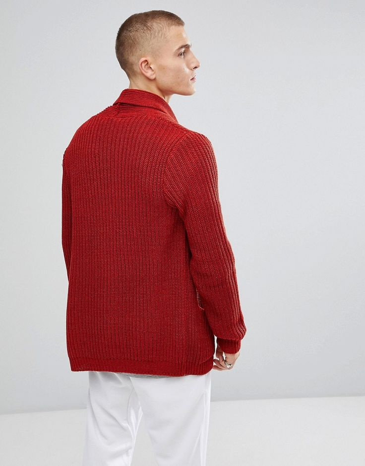 ASOS Ultimate Knitted Cardigan In Rust - Orange