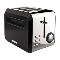 Living & Co Toaster Vintage 2 Slice Matte Black