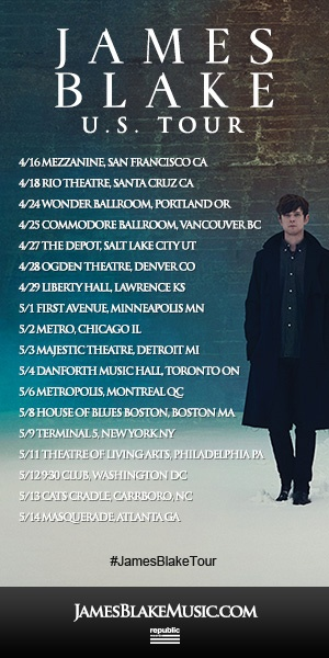 Are you ready to see James Blake's North American tour? #JamesBlakeTour