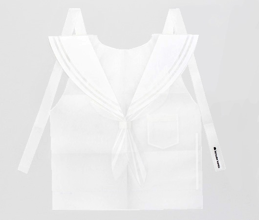 セーラー服の紙エプロン - keisuke kanda(ケイスケカンダ)公式通販サイト「CANDY store ROCK」
