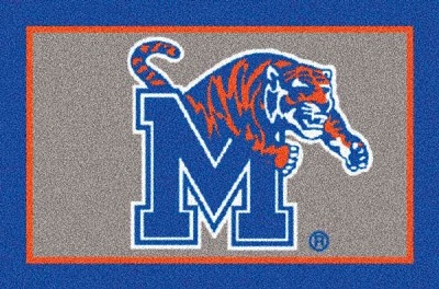 Memphis Tigers Team Logo Area Rug Ncaa Area Rugs
