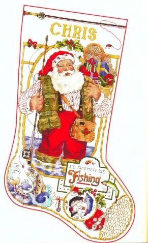 Носок Санта-рыбак