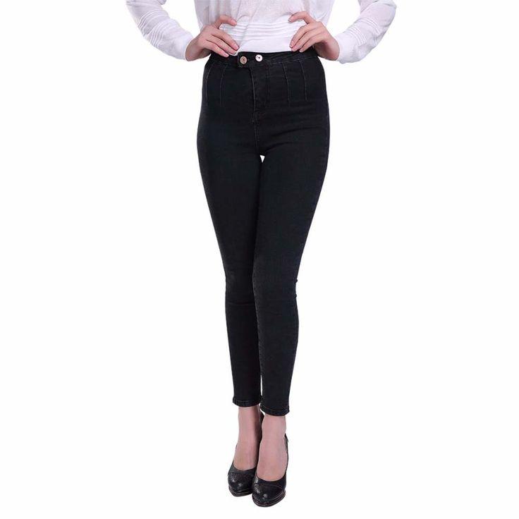 High Waist Slim Stretch Lycra Denim Jeans //Price: $37.60 & FREE Shipping //     #hashtag2