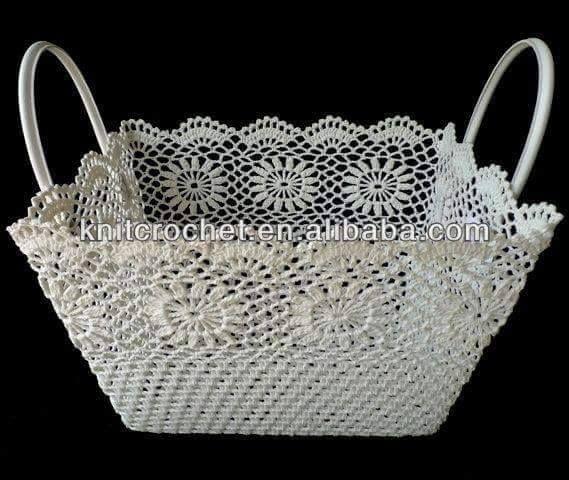 Luty Artes Crochet: cestas de crochê endurecido