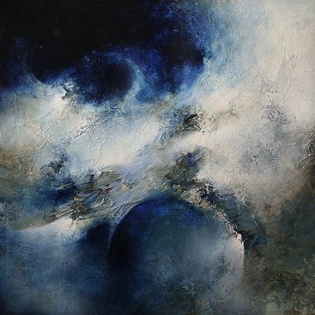 In Perfect Harmony, peinture abstraite par Cody Hooper #painting #abstract #moon