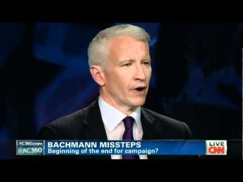 Anderson Cooper EVISCERATES Michele Bachmann on history of telling LIES