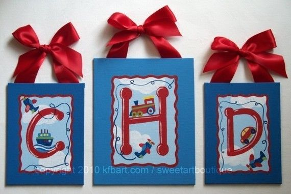 .: Canvas Letters, Blue Cars, Custom Canvas, Boys Rooms, Names Signs, Airplane Custom, Letters Art, Art Kids, Cars Trucks