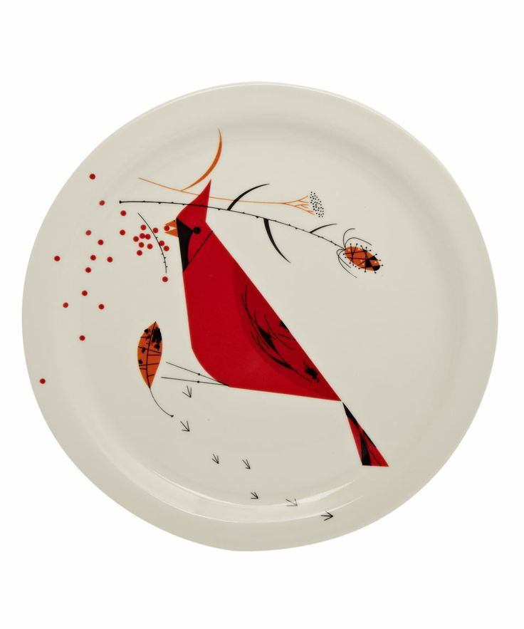 Red Cardinal Bird Dinner Plate, Fishs Eddy. Shop more homeware from the Fishs Eddy collection online at Liberty.co.uk