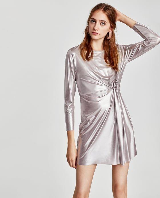 Image 6 of SILVER METALLIC DRESS from Zara