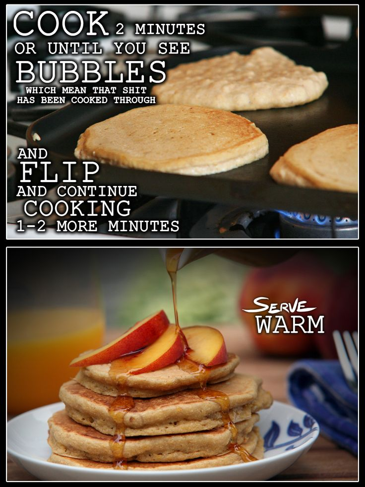 Thug Kitchen-Peach pancakes-  lol this blog cracks me up every time. Too salty for some