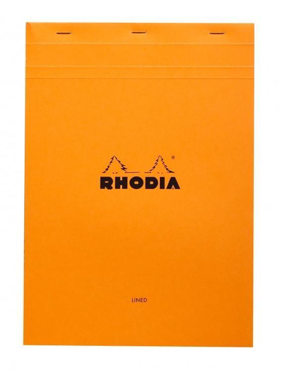 Rhodia Staplebound - Notebook - Orange - Lined with Margin - 8.25 X 11.75