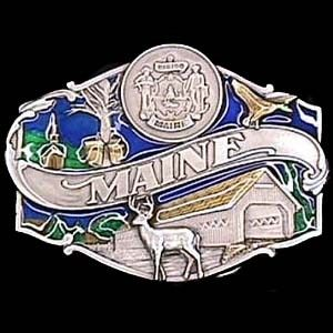 "Checkout our #LicensedGear products FREE SHIPPING + 10% OFF Coupon Code ""Official"" Maine split image Enameled Belt Buckle - Officially licensed Siskiyou Originals product Fully cast, metal buckle Bail fits belts up to 2 inches wide Exceptional detail with an enameled finish  - Price: $21.00. Buy now at https://officiallylicensedgear.com/maine-split-image-enameled-belt-buckle-q55e"