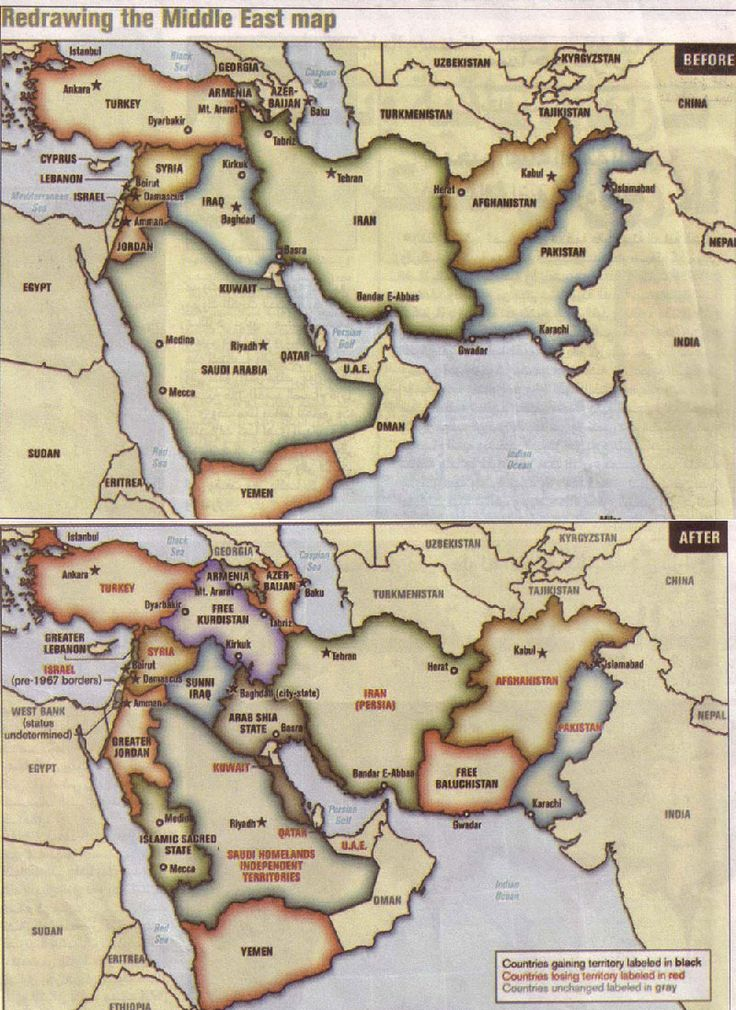 Redrawing the New Middle East Map: