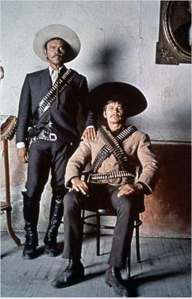 VILLA RIDES - Yul Brynner as 'Pancho Villa' & Charles Bronson - Directed by Buzz Kulik - Paramount - Publicity Still