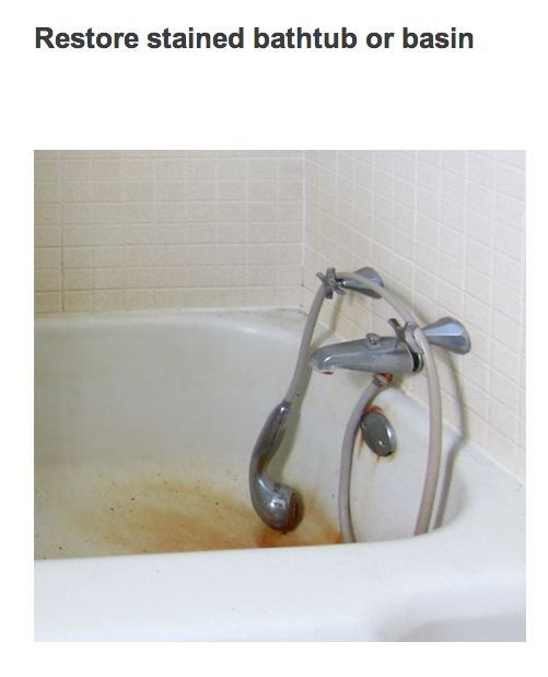 RESTORE a stained bathtub.
