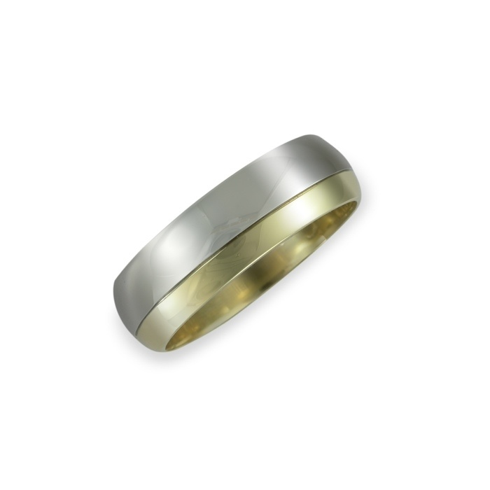 This ring is 2/3 White Gold, and 1/3 yellow, in a 7-8mm wide band. Approx proce $3499