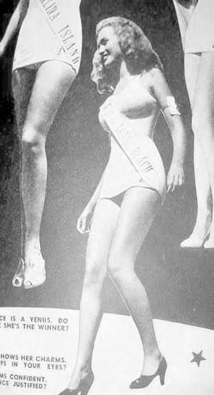Norma Jeane as Miss Long Beach, 1946.