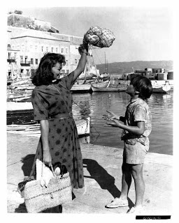 "Sophia Loren in Hydra, while shooting ""Boy on a Dolphin"" (1957)"