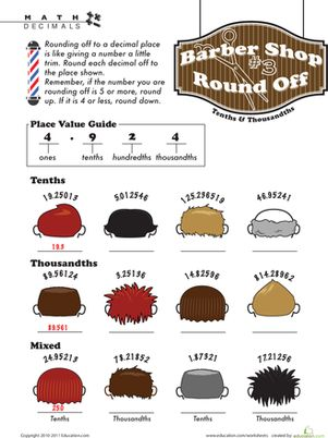 25 best ideas about rounding decimals worksheet on pinterest rounding off decimals rounding. Black Bedroom Furniture Sets. Home Design Ideas