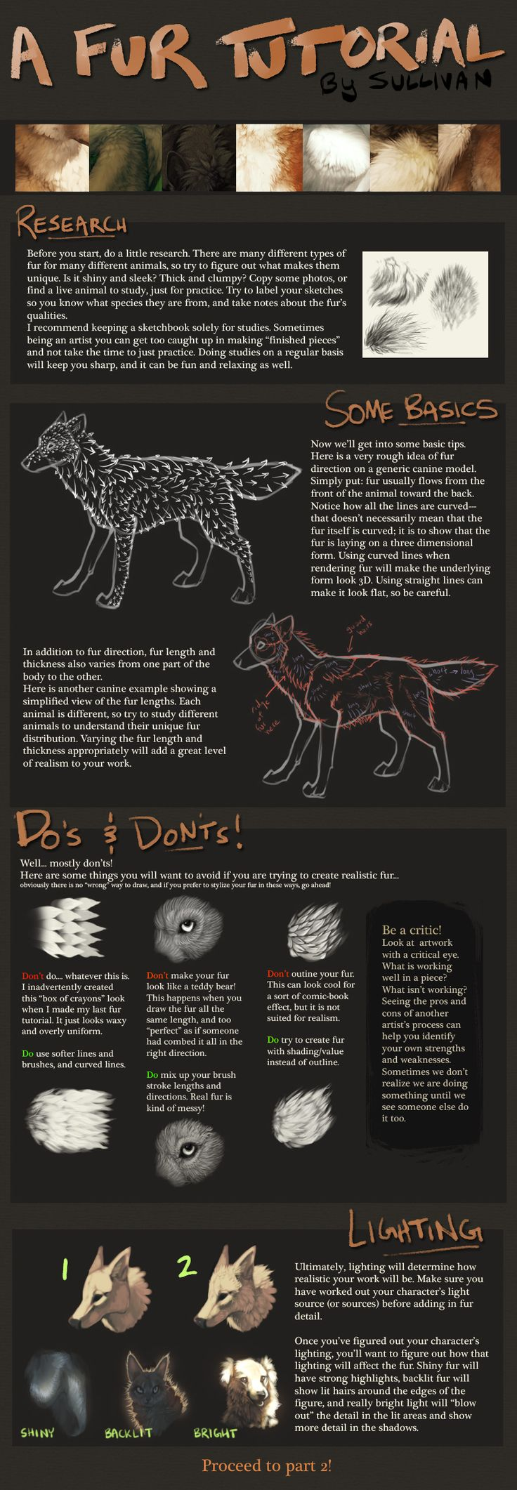 """A Fur Tutorial: Part 1 by *Sullivan - part 2 is in my """"Ideas for Painted Cats Rocks"""" board"""