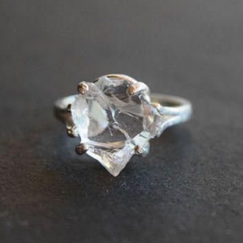 Rose Quartz Looking Diamond Engagement Ring Conflict Free