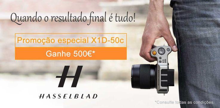 Compre um Hasselblad X1D-50c com objetiva e Ganhe 500€. Válido até 15 de Setembro de 2017.
