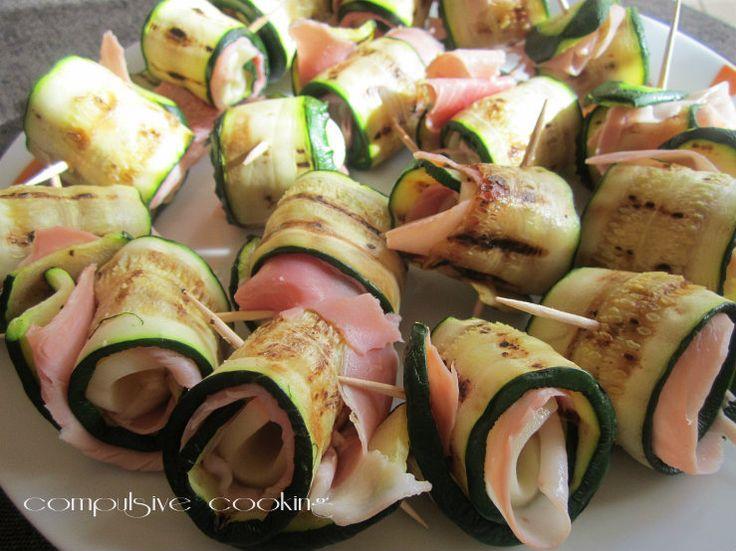Involtini di zucchine e prosciutto cotto
