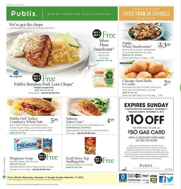 Publix Weekly Ad November 11 - 17, 2015 - http://www.kaitalog.com/publix-weekly-ad.html