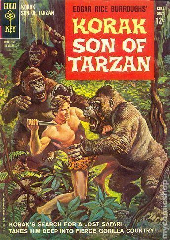 KORAK SON OF TARZAN 1, SILVER AGE GOLD KEY COMICS. THIS COMIC STARTED AT GOLD KEY AND LATER DC PICKS IT UP AND CONTINUES WITH THEIR NUMBERING.