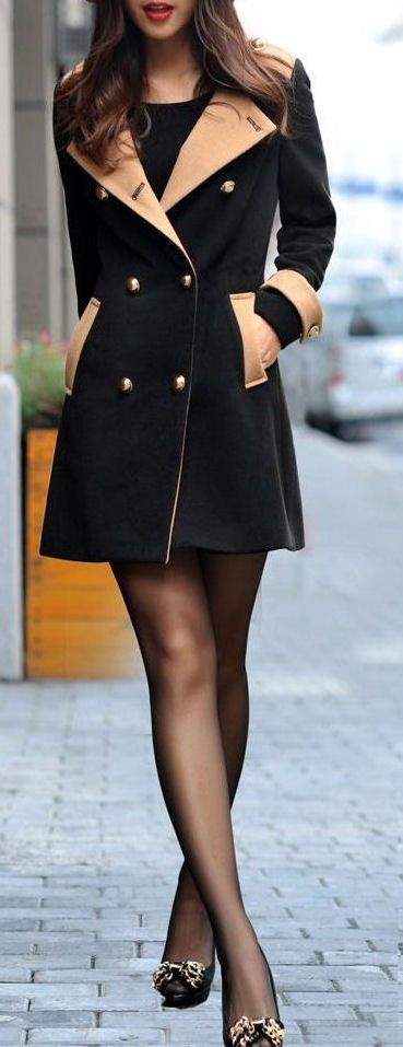 Contrast Trench Coat ♥