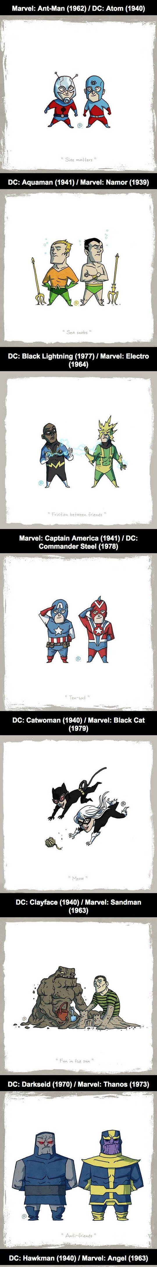 Marvel Vs DC: Equivalent Characters   http://ebay.to/1MkkL4b
