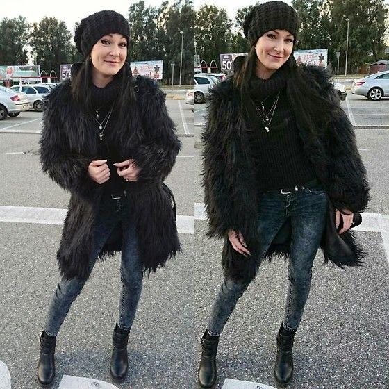 Get this look: http://lb.nu/look/8017356  More looks by Viktoria Bivol: http://lb.nu/bivolvika  Items in this look:  Misguided #Furcoat   #furcoat #missguided #black