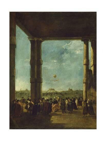 La salita del pallone. 1784. Gemäldegalerie Berlin