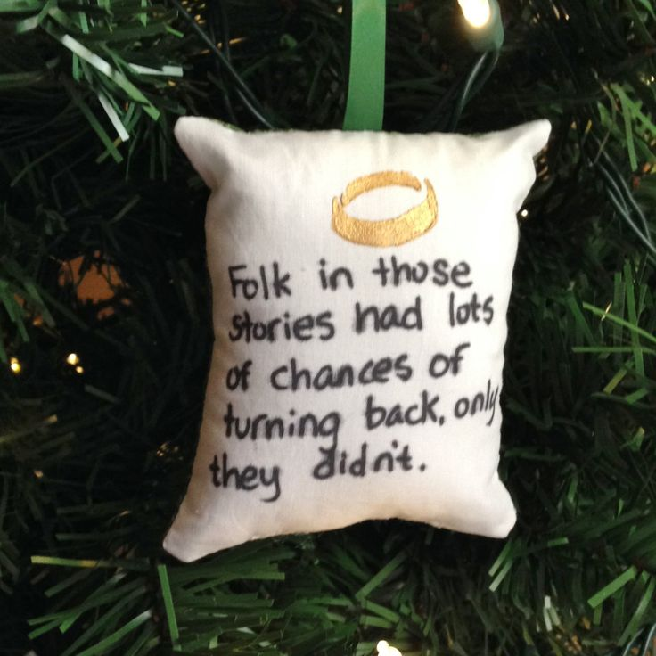 "One Ring ""Folk in Those Stories"" Christmas Ornament Lord Two Towers Sam Frodo Hobbit Gollum Middle Earth Tolkien Smeagol FREE SHIPPING by HollyAndHerHobbies on Etsy"