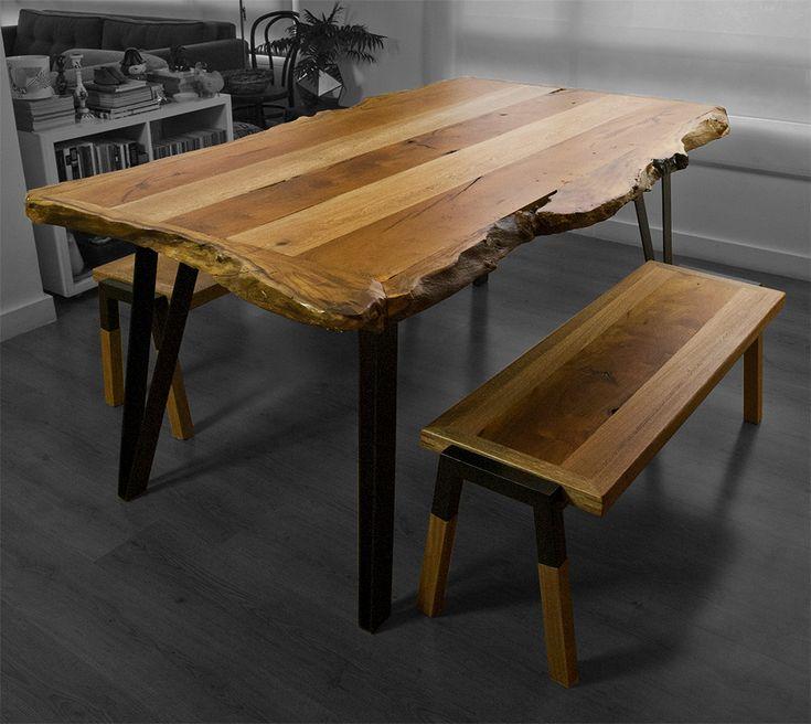 ORILLO Dining room set.  Designed by Camilo Cálad for Macrocéfalo Diseño. #diningroom #dining #comedor #table #mesa #bench #furniture #design