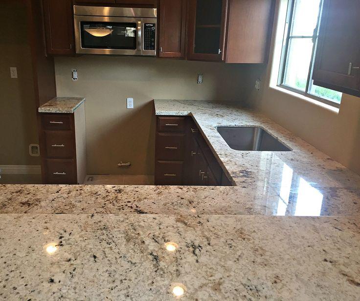 Cafe Creme Granite Countertop Renovation In Phoenix, AZ With Flat Polish  Edge And Single Bowl