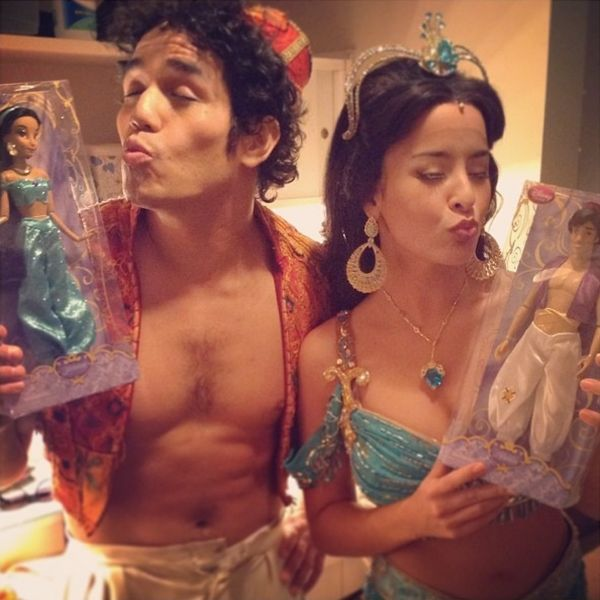 Aladdin stars posing for a picture with.....themselves? #DisneyonBroadway