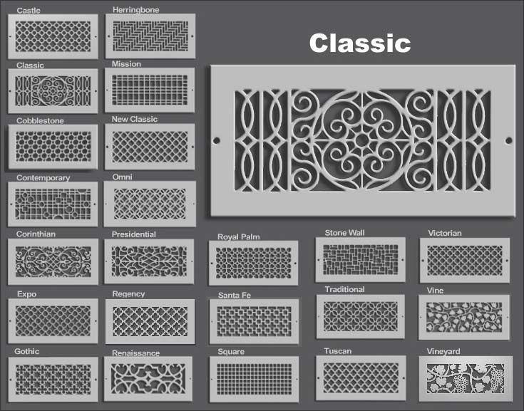 Decorative Wall Vent Covers pattern cut design r Our Elegant And Functional Decorative Air Supply Registers And Return Air Grills Allow Your Hvac Vents