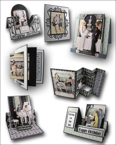 """Doocrafts Papermania Art Deco Roaring Twenties"""" Card Fronts (Topper ..."""