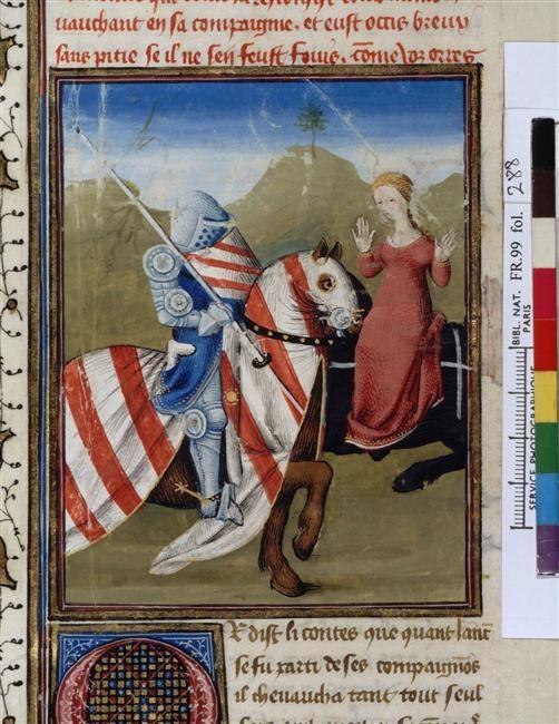 Lancelot et une demoiselle d 39 honneur d 39 iseut knights of - Lancelot chevalier de la table ronde ...