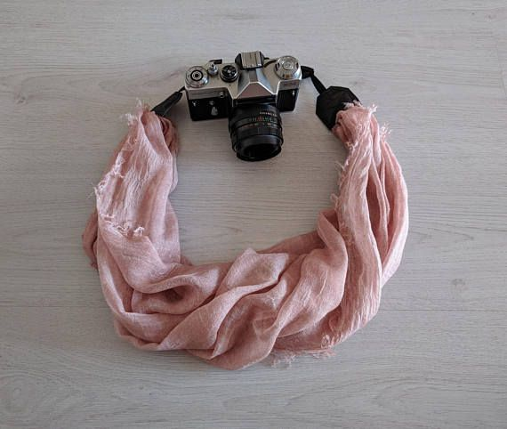 Scarf camera strap Pink camera strap Moonlight camera strap Camera scarf DSRL camera strap Photographer accessories Camera accessories