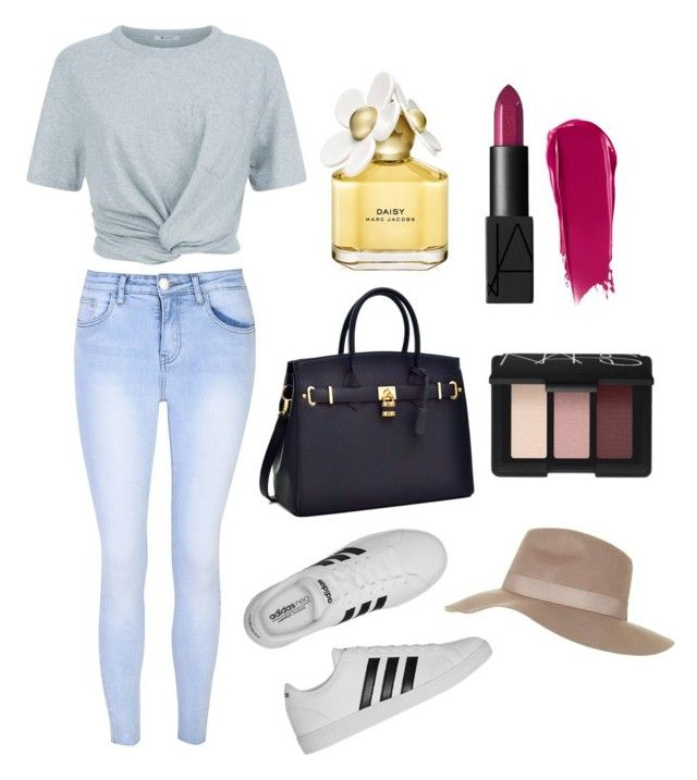 """""""Day out"""" by alexxshaw45 ❤ liked on Polyvore featuring T By Alexander Wang, Glamorous, adidas, Topshop, Marc Jacobs and NARS Cosmetics"""