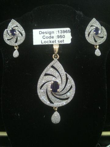 AMERICAN DIAMOND LOCKET SET #Ladiespurses #Suitfabric