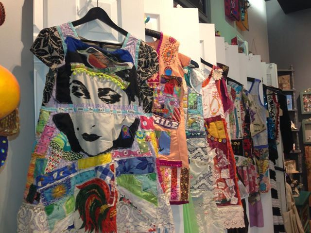 ARTIFACT Las Vegas sells Wearable COLLAGE Art by My Bonny AKA Random Scraps of Fabric